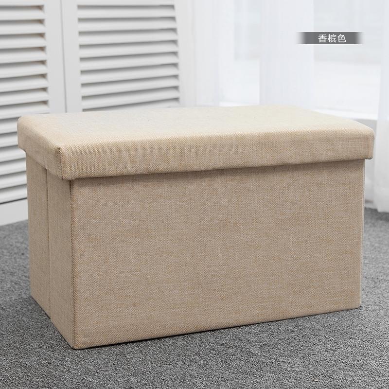 Rectangular Storage Stool Fabric Can Sit People Shoes Sofa Stool Foldable Stool