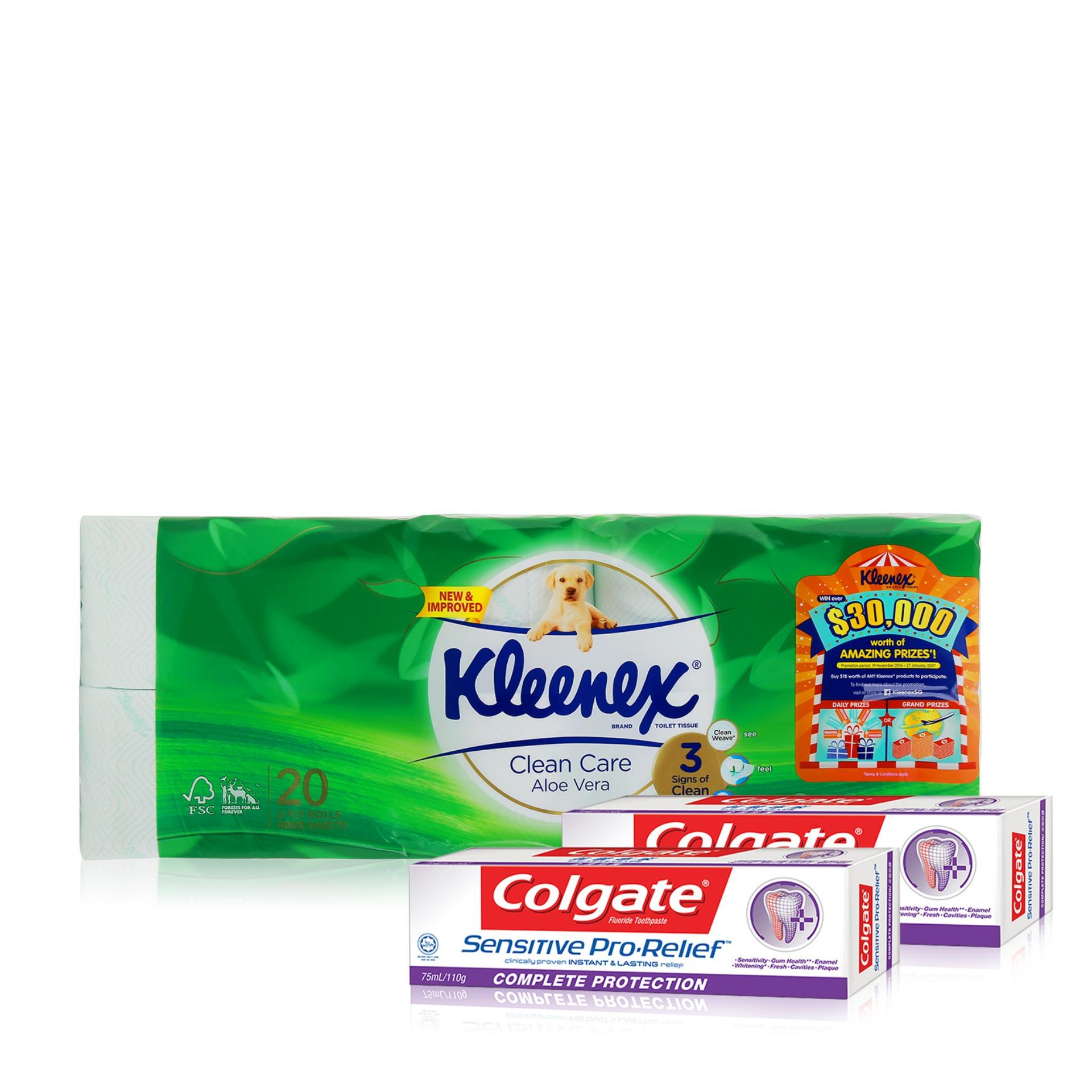 Colgate Official Store Buy At Best Price In Zig Zag Charcoal 1pc Kleenex Clean Care Bath Tissue Aloe Vera 20x200sheets Sensitive Pro Relief Complete Protection Toothpaste