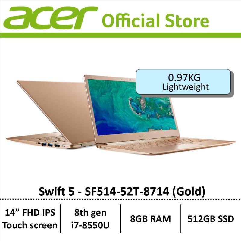 Acer Swift 5 SF514-52T-8714(Gold) Thin & Light Laptop - Free Gift with purchase