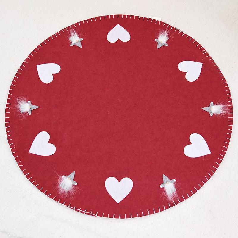 Happy. 100 Stereo Heart Old Man Christmas Tree Apron Tree Skirt Base Mat Christmas Ornaments