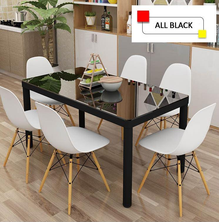 JIJI Eames Glass Dining Table 120 x 60 cm (Free Installation) - Tables / Furniture / Dining Sets (SG)