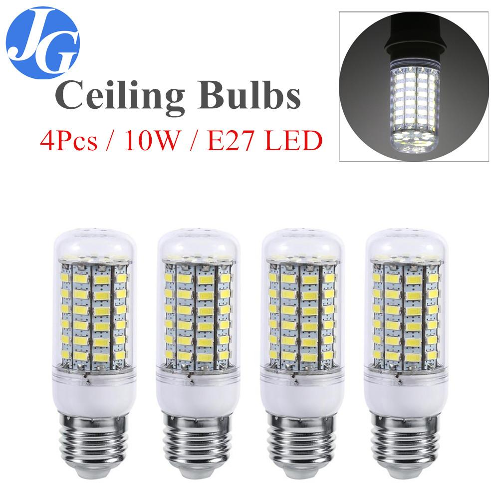 Justgogo 4Pcs 10W E27 LED Ceiling Bulb Bright Home Ceiling Pendant Lamp Light  220V White