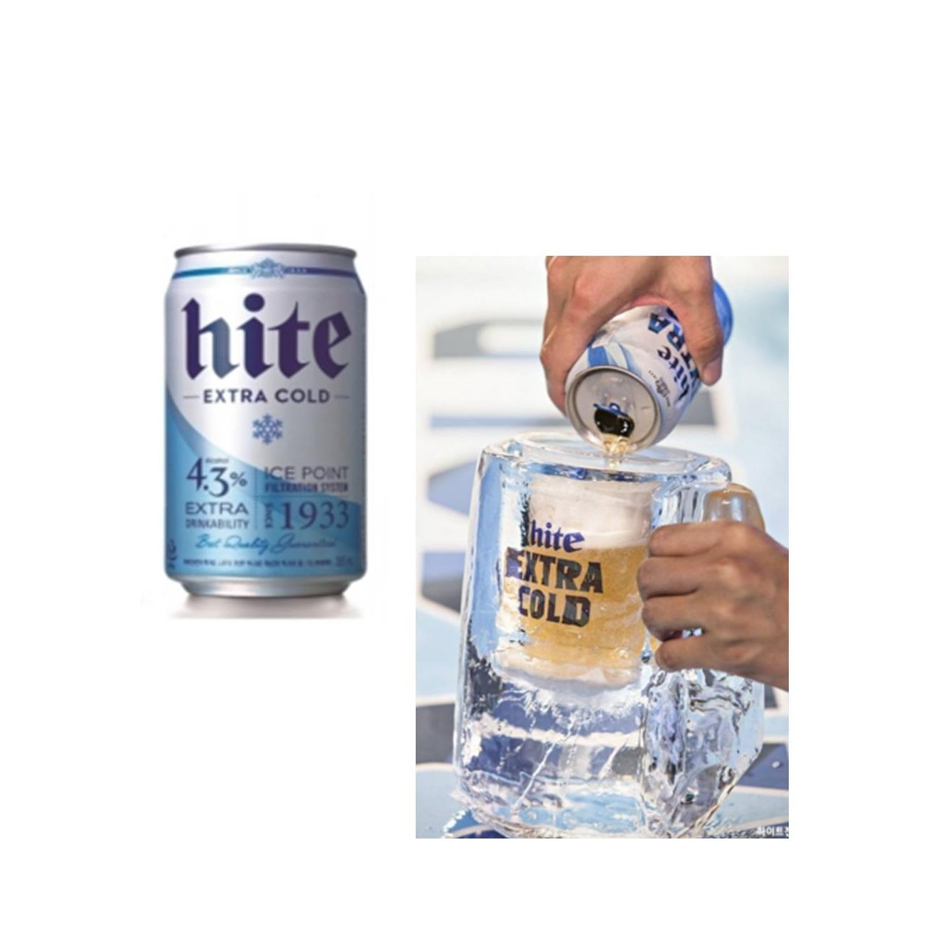Hite Extra Cold Korea Beer 355ml X 24 Cans (oct 2019) By Qqmart.