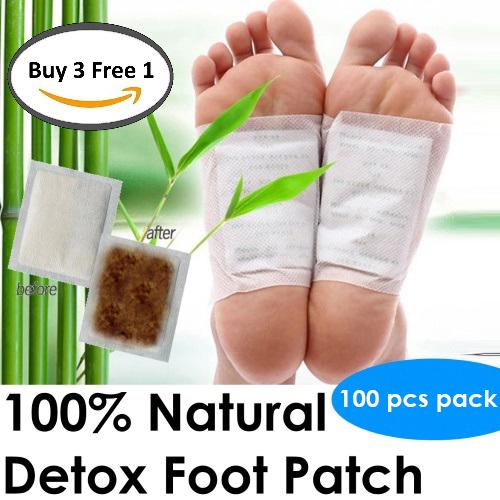 Sol Home ® Bundle Of 3 + 1 Detox Foot Patch - 100% Natural Detox Foot Patch - Total 400pcs By Shoponlinelah By Sol Home.