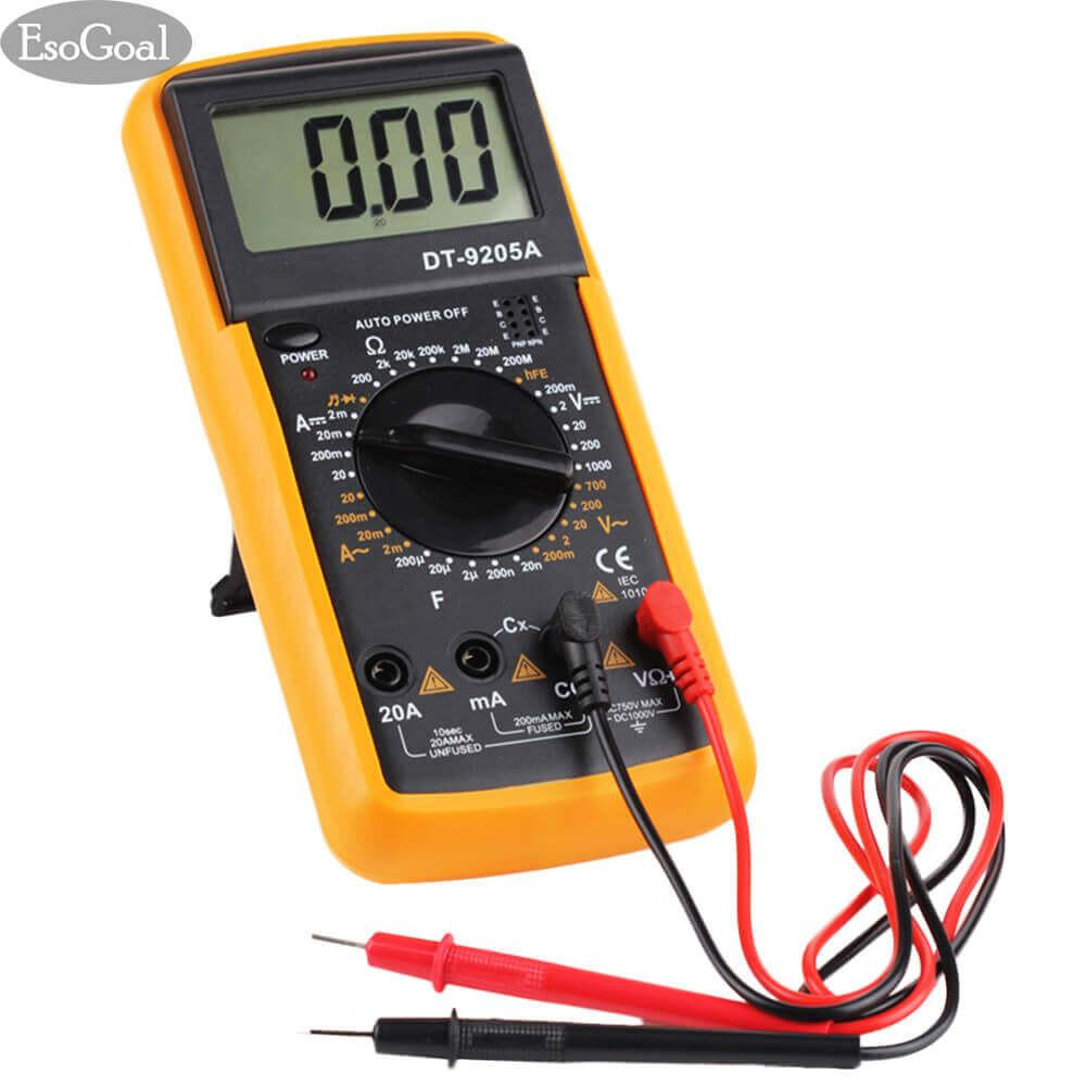 Esogoal Digital Multimeter, Electronic Volt Amp Ohm Meter Multimeter With Diode And Continuity Test, Lcd Display, Measures Voltage, Current, Resistance, Capacitance, Frequency By Esogoal.
