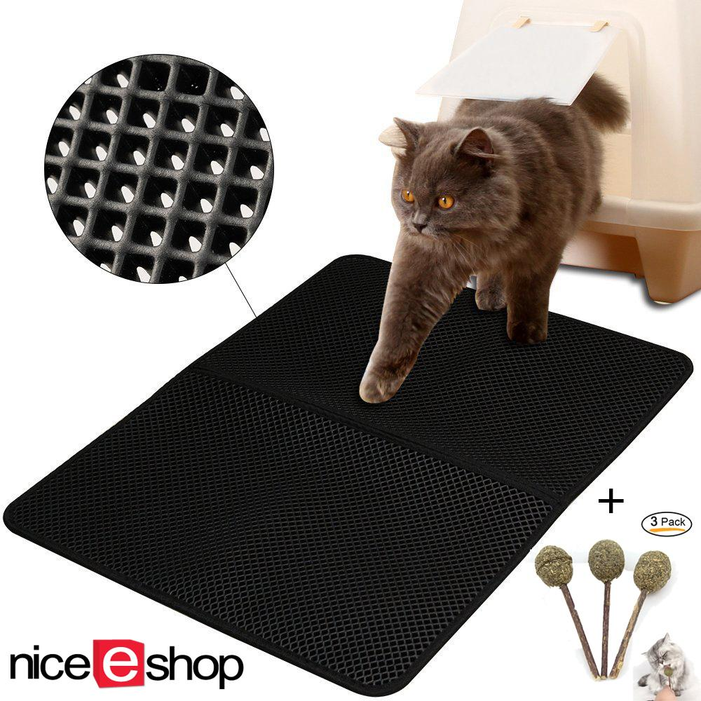 Niceeshop Cat Litter Trapping,l Size 55x70cm Double-Layer Honeycomb Cat Litter Mat With Waterproof Base, Foldable Easy To Clean - Intl By Nicee Shop.