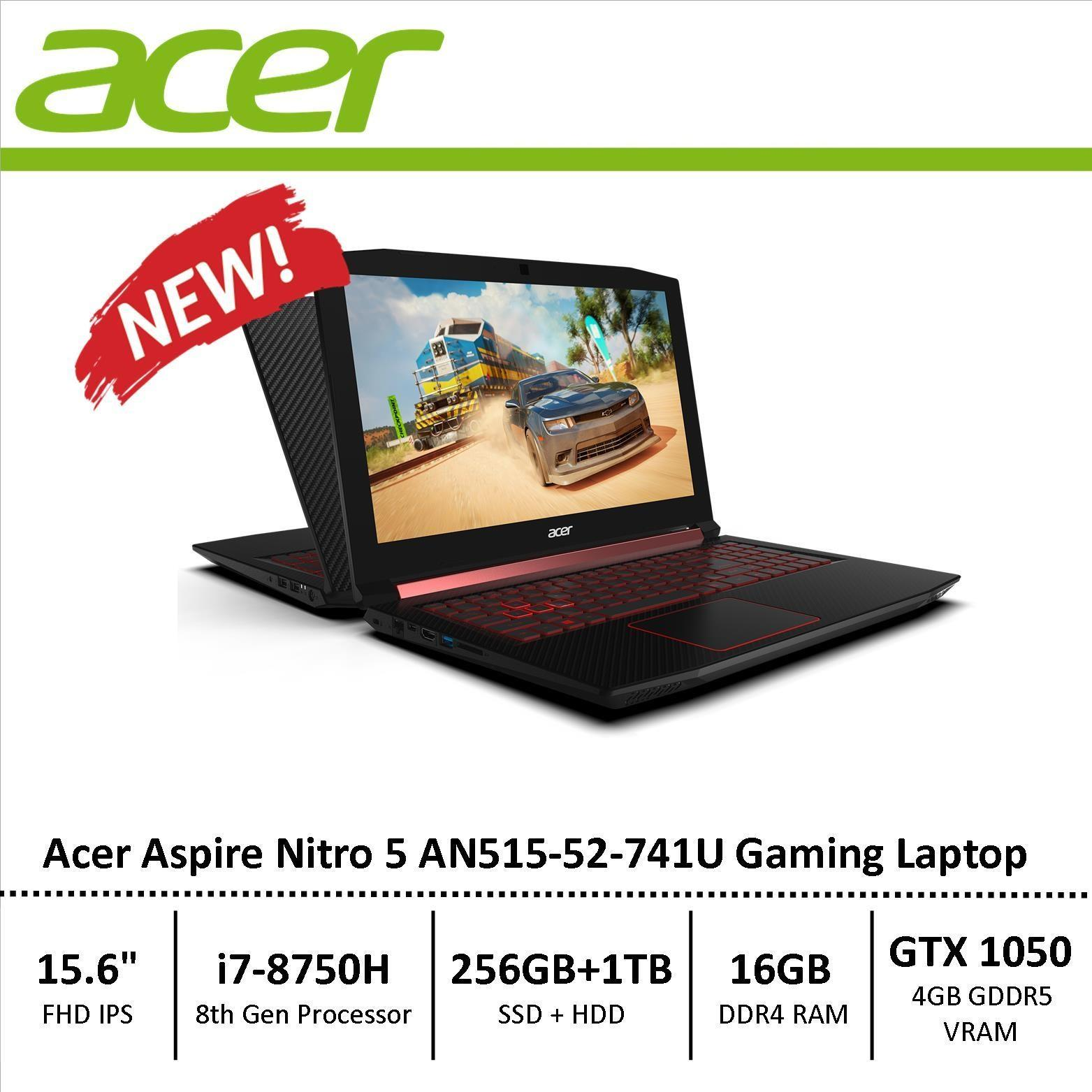 Acer AN515-52-741U Aspire Nitro 5 Gaming Laptop 8th Generation i7 Processor with GTX 1050 Graphics