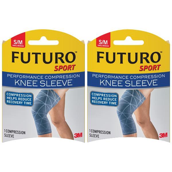 0fe8a70874 3M Futuro Performance Compression Knee Sleeve - Small / Medium [Bundle of 2]