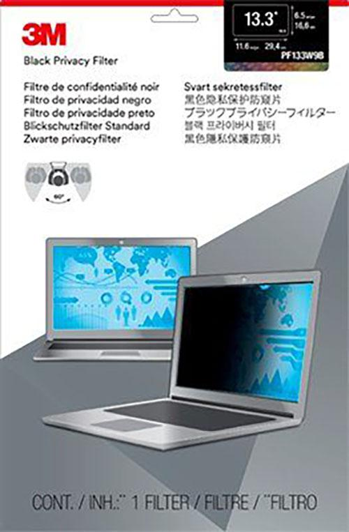 3M Privacy Filter for 13.3 inch Widescreen Laptop PF133W9B