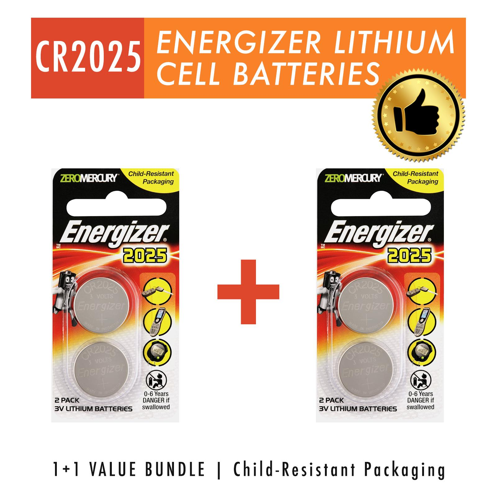 Buy Energizer Flashlight Work Lights E92 Aaa Bp 4 Pc 3v Lithium Button Coin Batteries Cr2025 Dl2025
