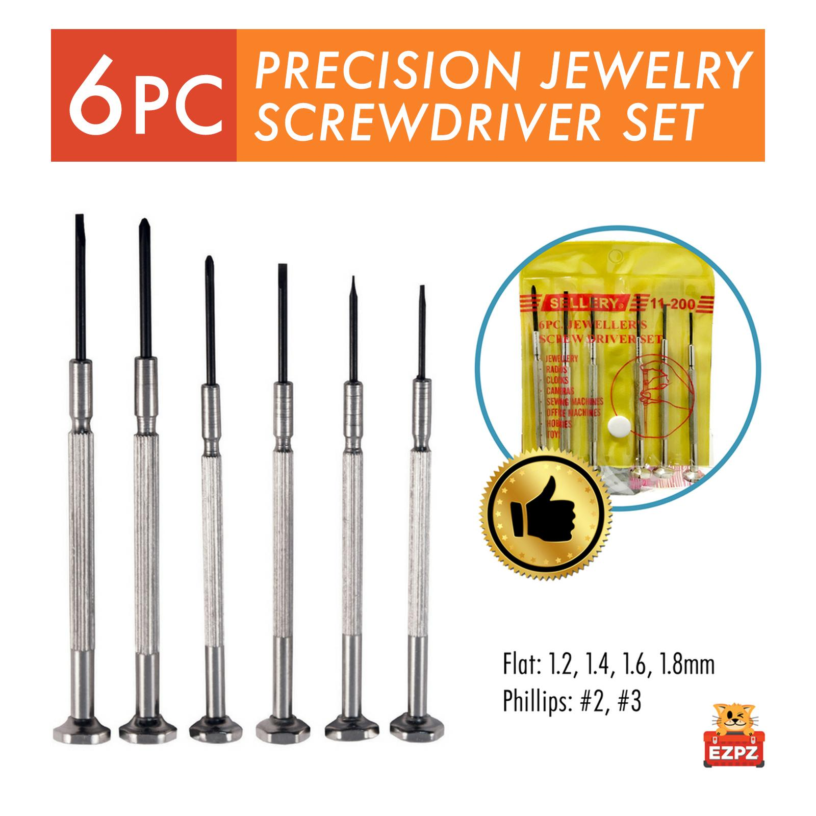 2 PACK - SELLERY 6 PC Precision Screwdriver Set - Jewellery Spectacles Watch Laptop Repair