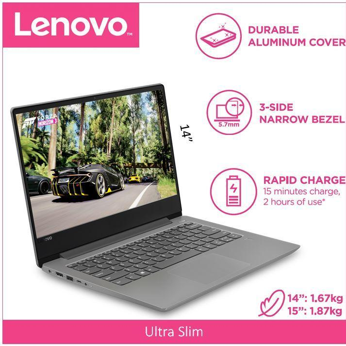 Lenovo IdeaPad 330S(Thin&Light)14.0 HD PLATINUM GREY 1 Year Local Warranty