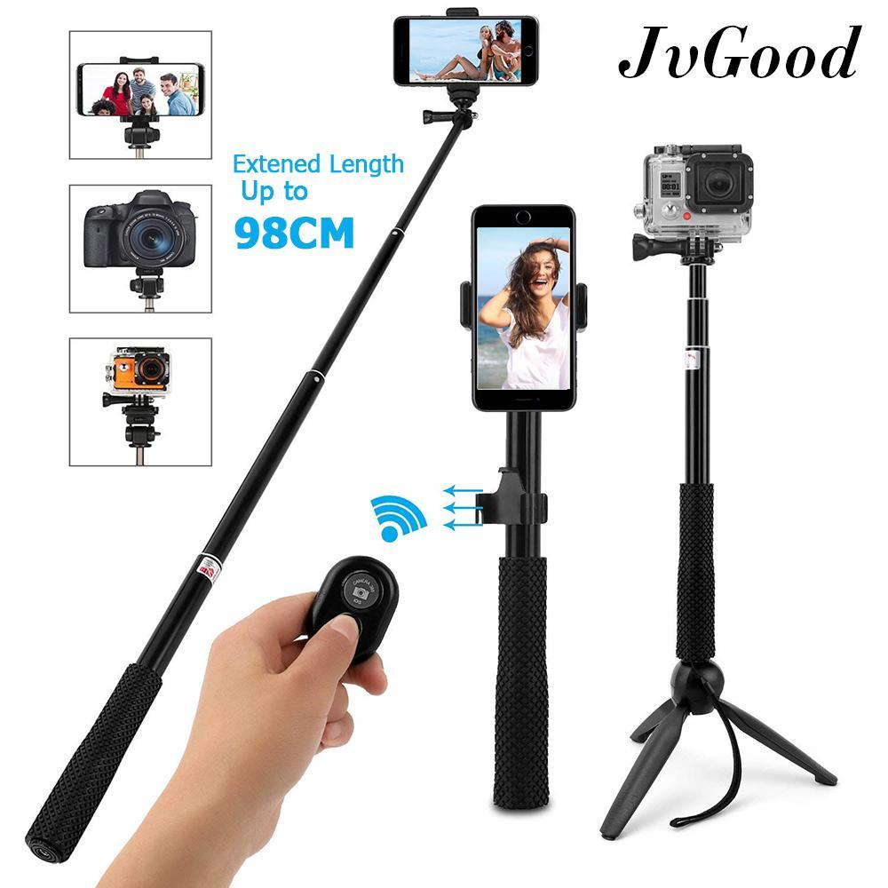 133ff84ec86ea5 JvGood Selfie Stick Tripod Extendable Selfie Stick Monopod Bluetooth Remote  Shutter Tripod Monopod Sticks Tripod Mount