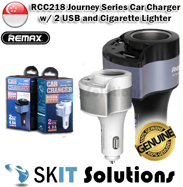 Remax Rcc218 Journey Series 2 Usb Portable Alloy Quick Car Charger Of 4.8a By Sk I.t. Solutions.