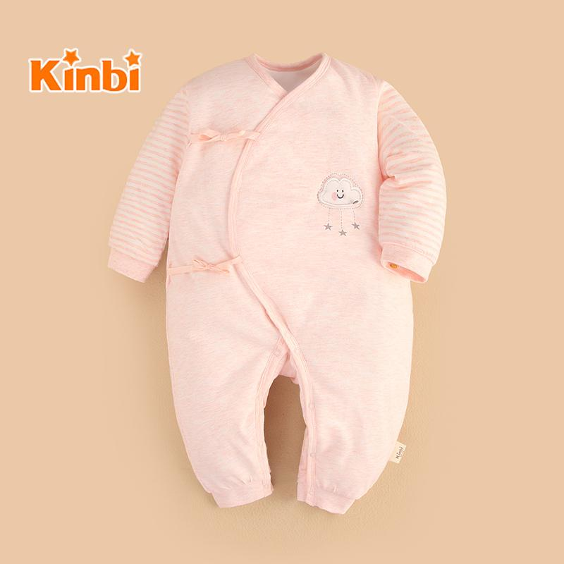 4f46bf7aaf34 Baby Onesie Autumn & Winter Newborns Clothes Baby Warm Romper Padded  Pajamas Climbing Clothes 0-