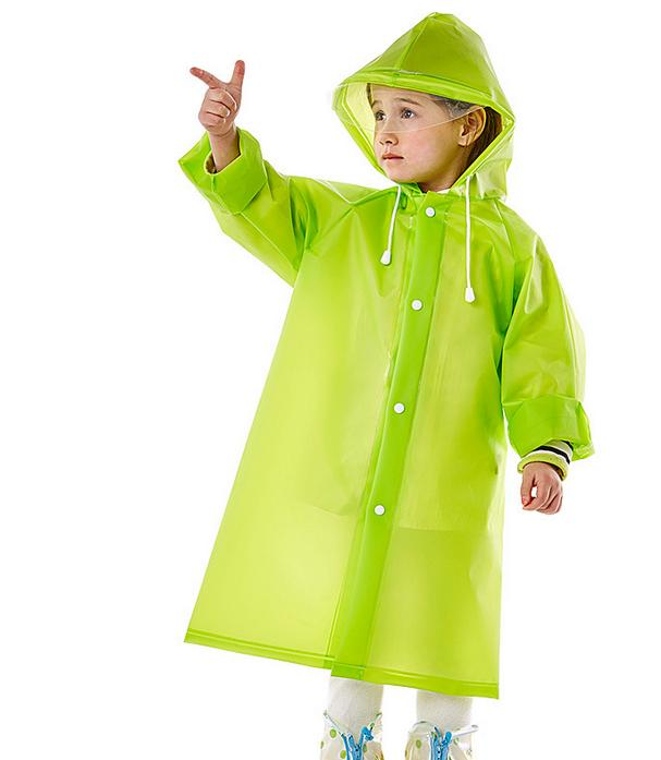 Kids Raincoat EVA Thick Rainwear Rain Poncho with Hood  School Bag Backpcak  Cover for Children Student f72a413ffac6