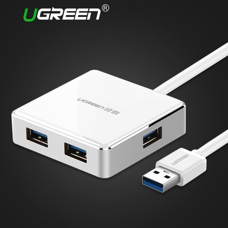 Price Ugreen 2M Usb 3 Hub 4 Port Super Speed Aluminum Usb Hub Splitter With Micro Usb Power Interface For Computer Macbook Usb Hubs White Intl China