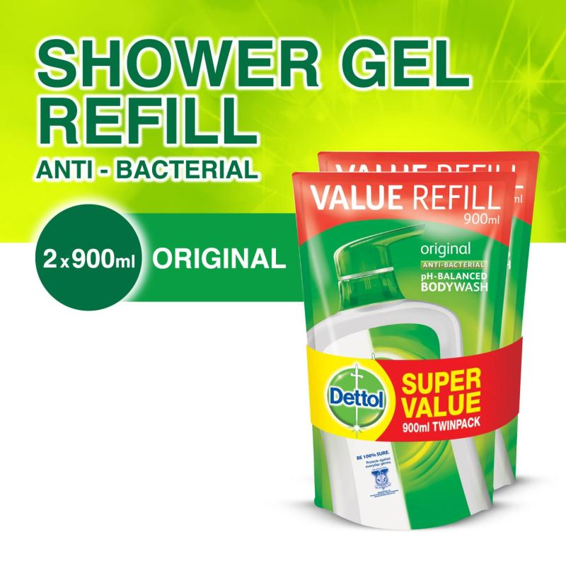 Buy 2x Dettol Anti-Bacterial Body Wash Refill 900G Singapore