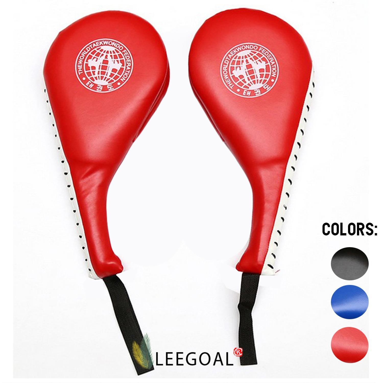 Leegoal 2 Ps Taekwondo Karate Kickboxing Kicking Pad Practice Kick Target Training,black By Leegoal.