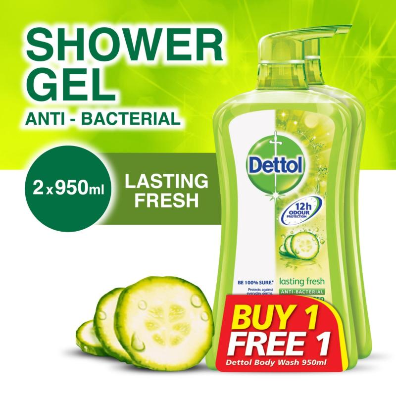 Buy Dettol Lasting Fresh Body Wash - 950ML x 2 [Buy one get one free] Singapore