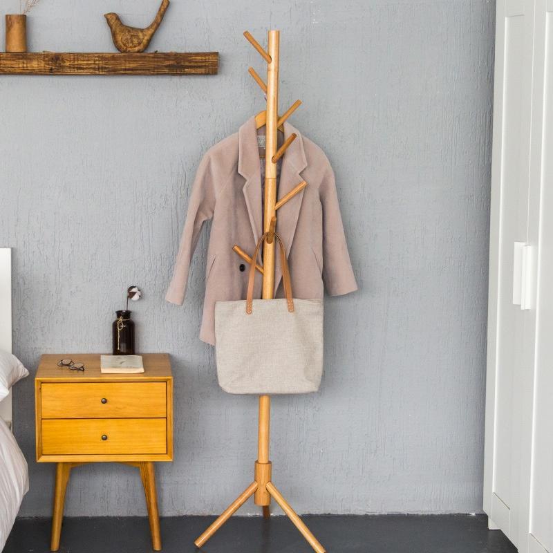 [AG] Solid Natural Wood Clothes Rack / Coat Rack ★ 175 cm