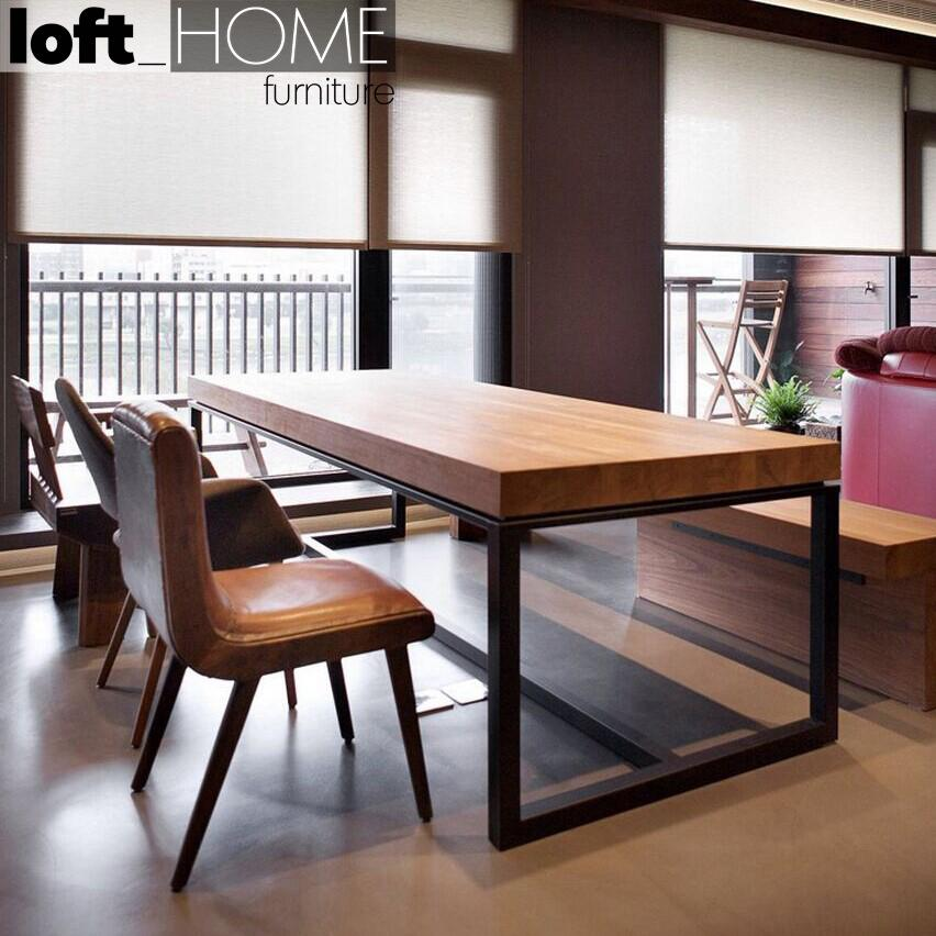 Loft Dining Table - Classic / Solid Pine Wood / Customized Size & Colour