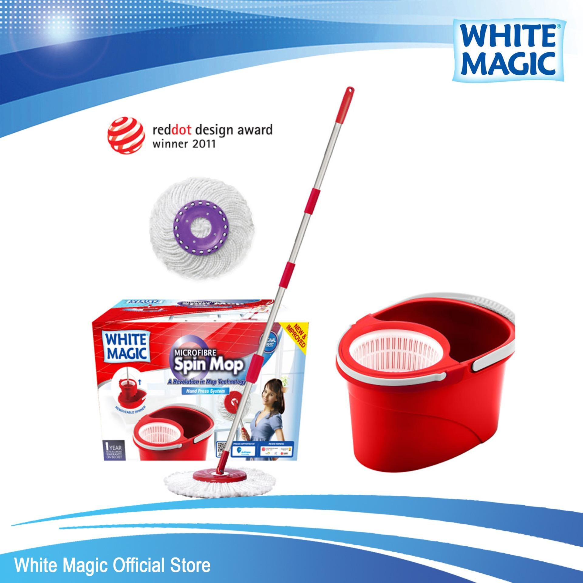 Buy Cheap White Magic Hand Press Spin Mop Set