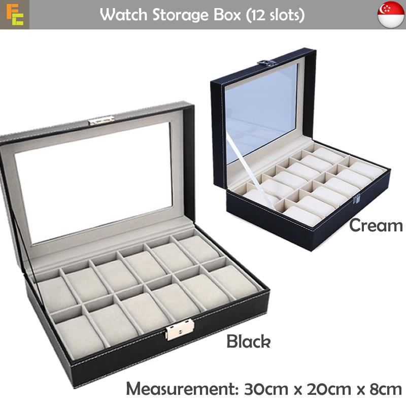Purchase Premium Pu Leather Watch Storage Box 12 Slots