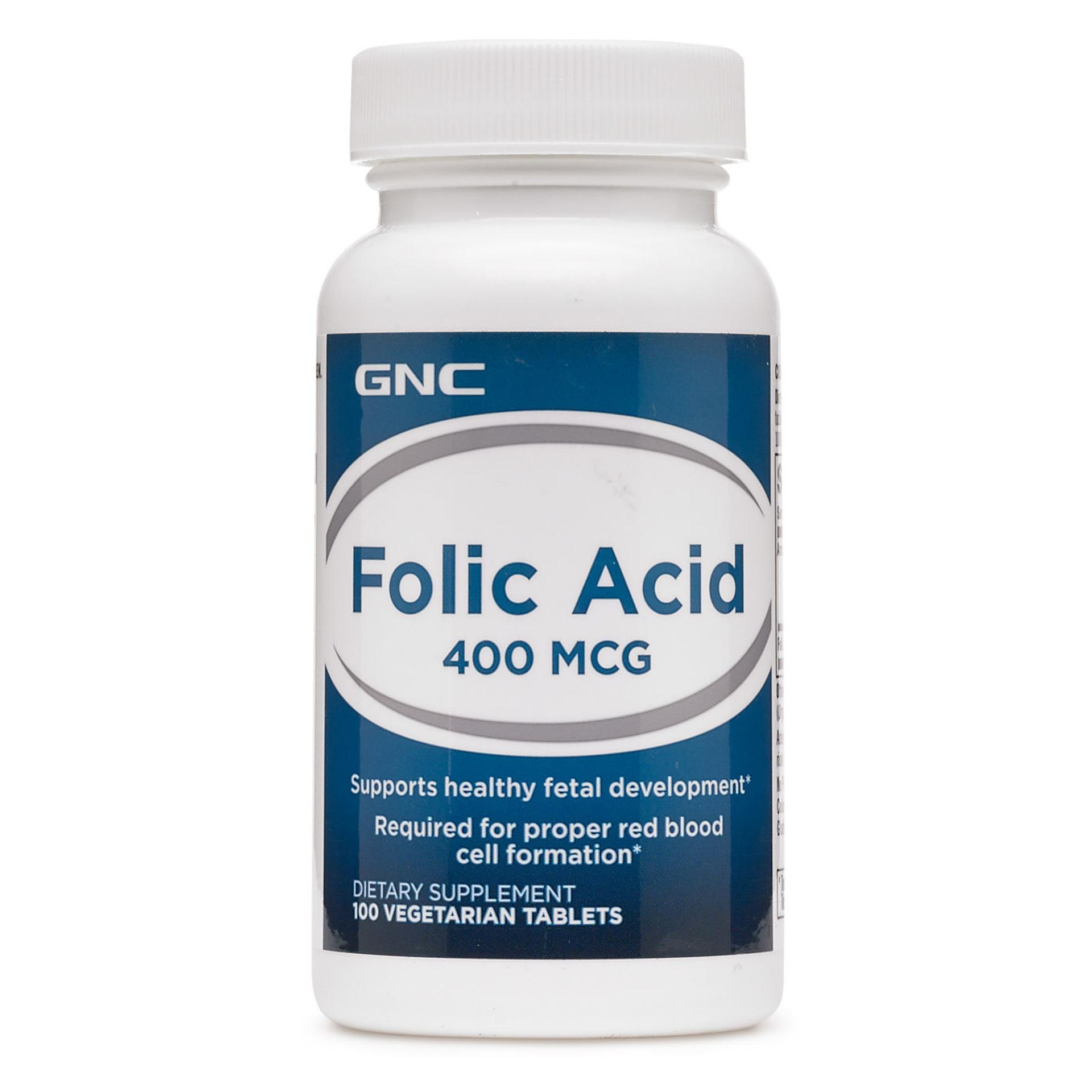 Best Offer Gnc Folic Acid 400 Mcg 100 Tablets