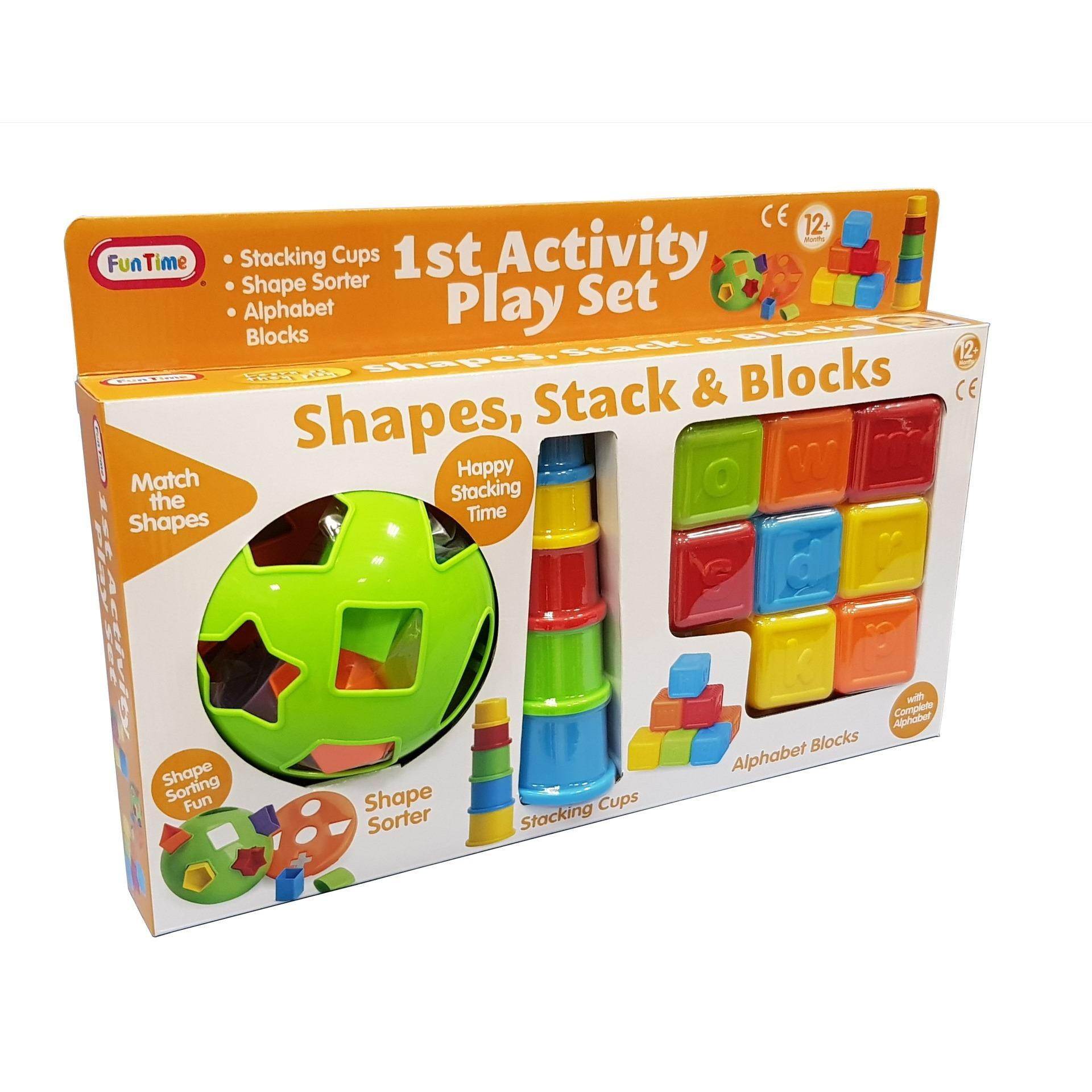Funtime Shape Stack And Blocks Baby Toys By Lian Thye & Co Pte Ltd