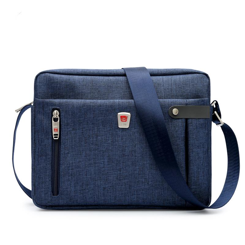 Mens Messenger Bag Fashion Korean Style Shoulder Bag Cross Waterproof Oxford Cloth Briefcase Light Canvas Bag Small Bag