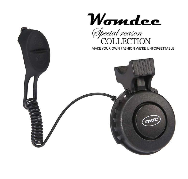 Womdee Electric Bike Horn Bike Bells 120 Db Invisible Bicycle Bell Road Bike USB Mini Cycling