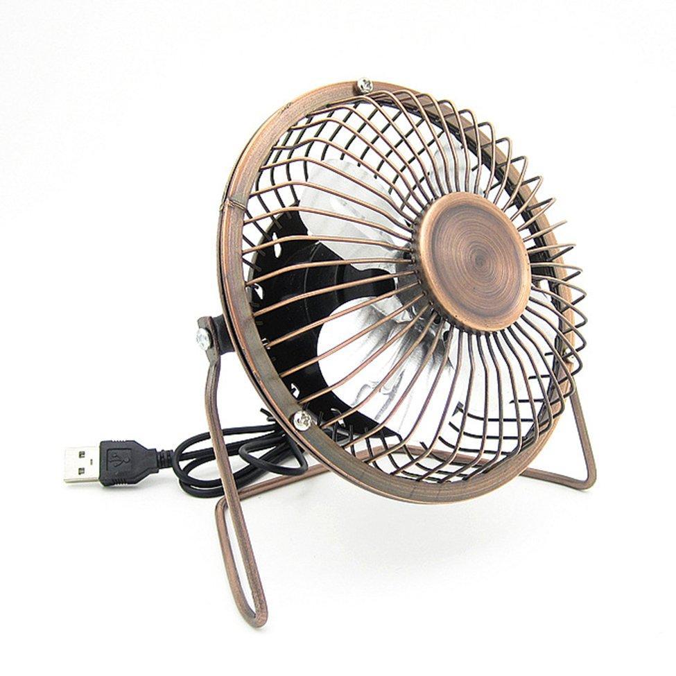OH 4-Inch USB Cooling Fan Small 4 Blades Desk USB Cooler Super Mute Car USB Fan