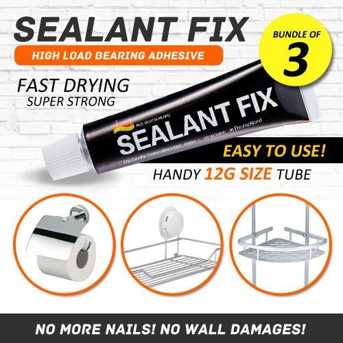 Sealant Fix - Nail Free Era No More Wall Damages Adhesive Glue High Weight Bearing Load Bearing Afte By Gladleigh.