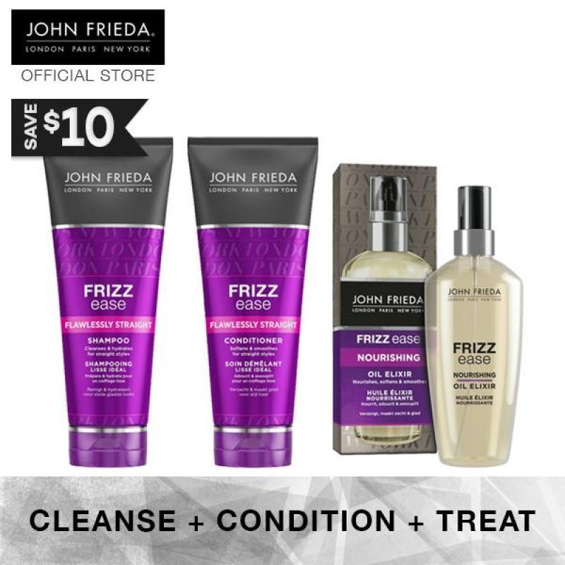Buy Bundle - John Frieda Frizz Ease Flawless Straight Shampoo & Conditioner + Oil Elixir Singapore
