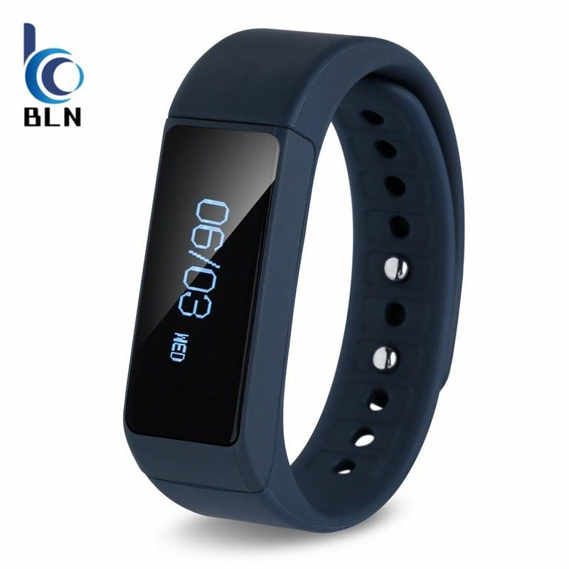 Cheaper Bln I5 Plus Smart Bracelet Bluetooth 4 Waterproof Touch Screen Fitness Tracker Health Wristband Sleep Monitor Smart Watch Blue