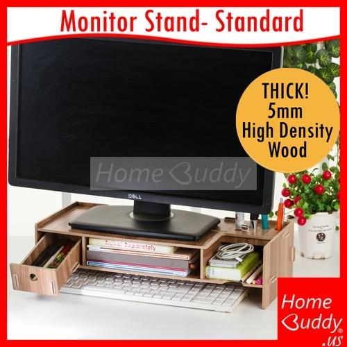 Monitor/ Laptop Stand: version STANDARD_ THICK 5mm High Density Wood_ READY Stocks SG. Reach you 2 to 4 work days_ HomeBuddy_ Acev Pacific_ monitor stands