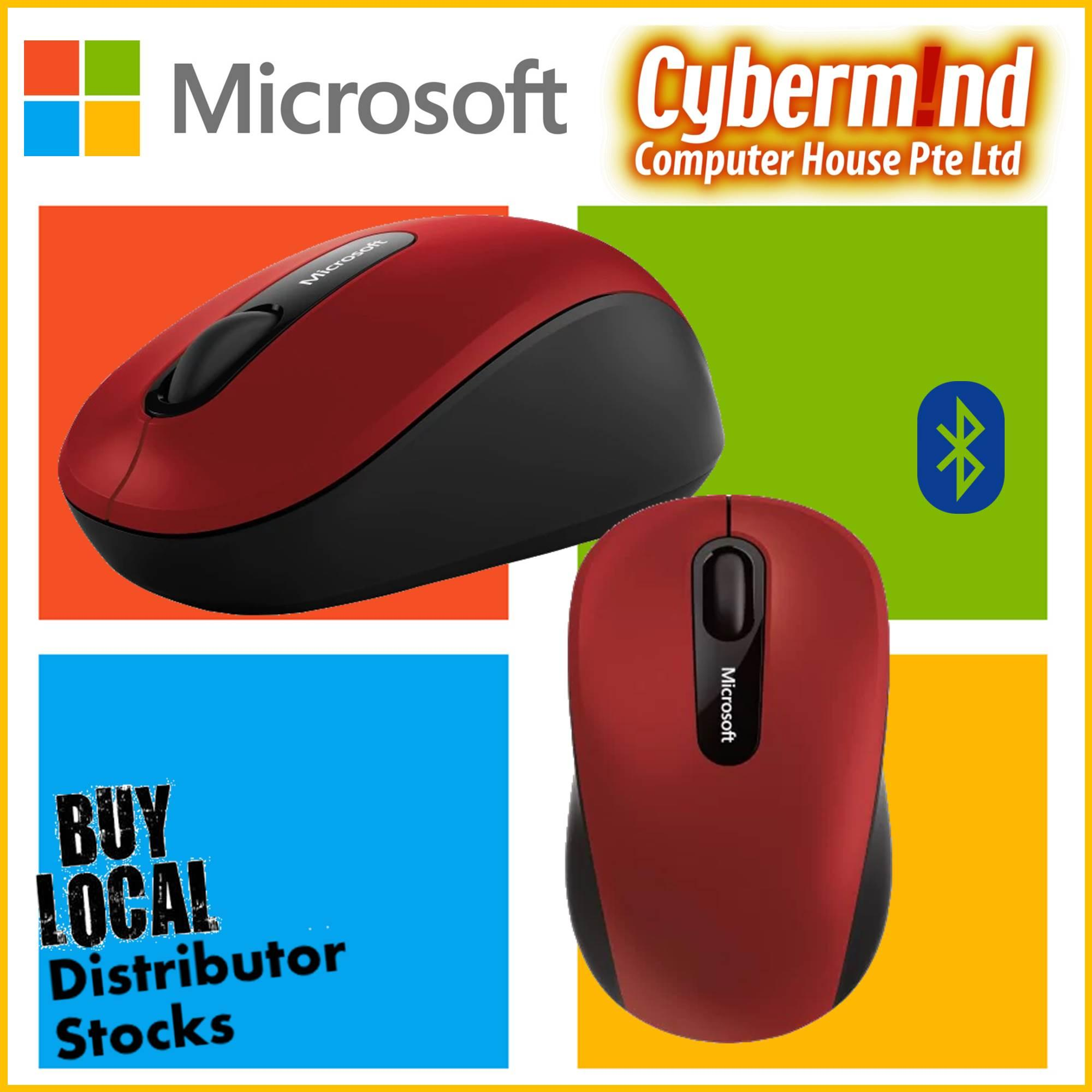 Microsoft Mice Singapore 3600 Bluetooth Mobile Mouse Red