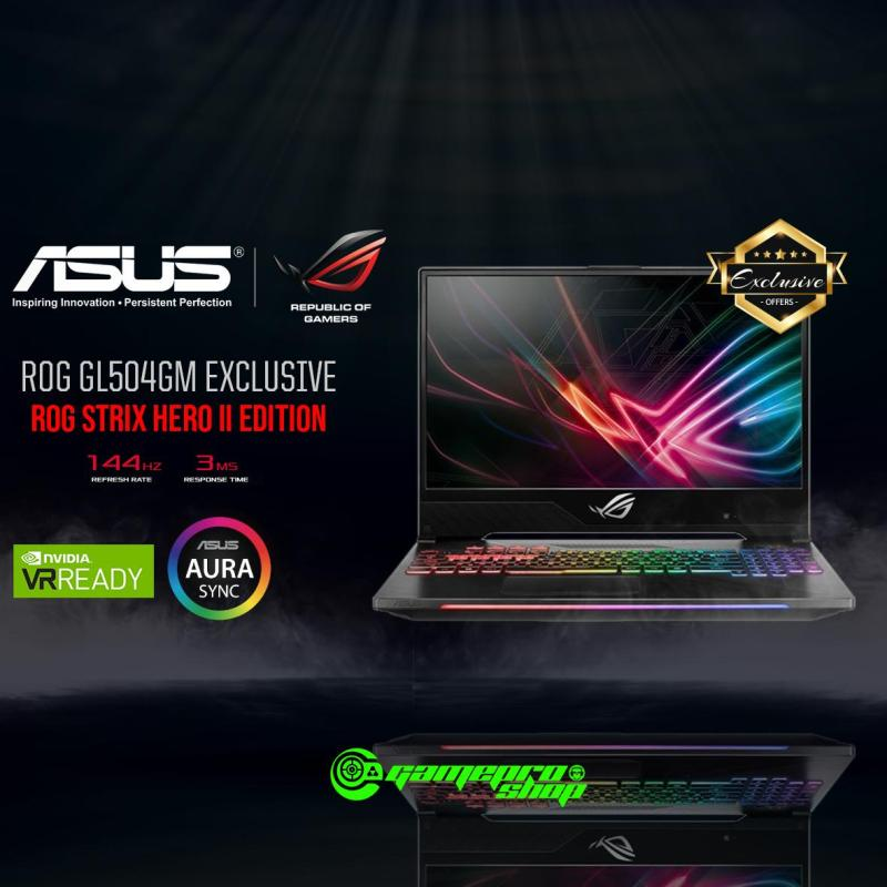 8th Gen ASUS ROG Strix Hero II GL504GM - ES057T EXCLUSIVE ( I7-8750H / 8GB / 128GB SSD + 1TB HDD / GTX 1060 ) 15.6 WITH 144Hz GAMING LAPTOP *11.11 PROMO*