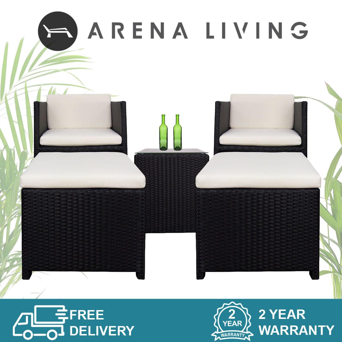 Splendor Armchair Set Creamy White Cushions, Outdoor Furniture by Arena Living