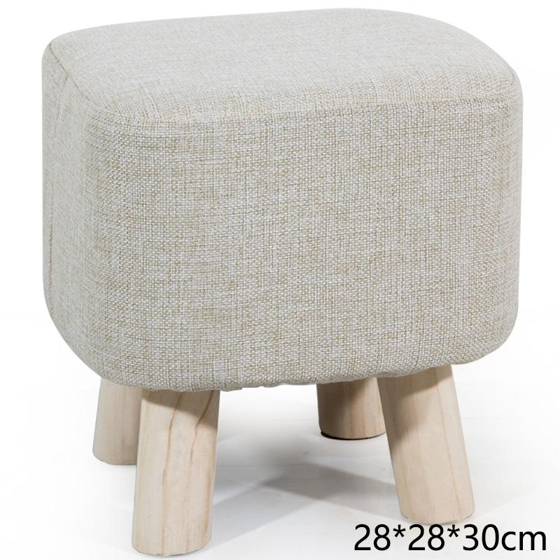 Fabric Adult Solid Wood Small Bench Small Stool
