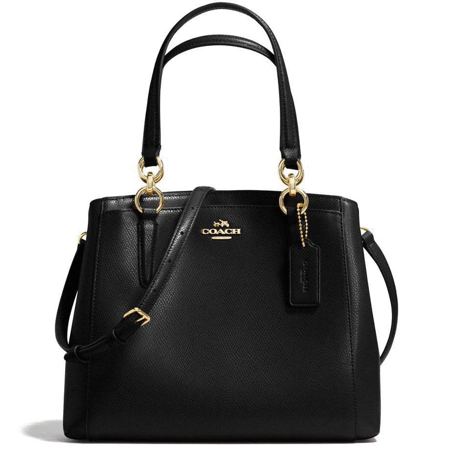 Singapore Coach Minetta Crossbody In Crossgrain Leather Handbag Gold Black F57847 Gift Receipt