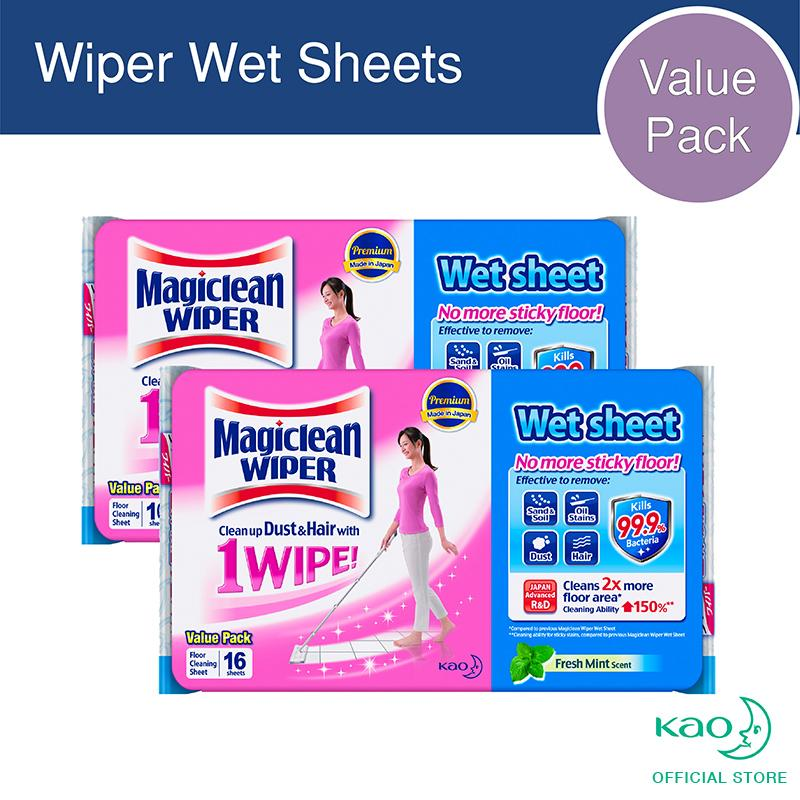 Magiclean Wiper Wet Sheet 16s (set Of 2) By Kao.