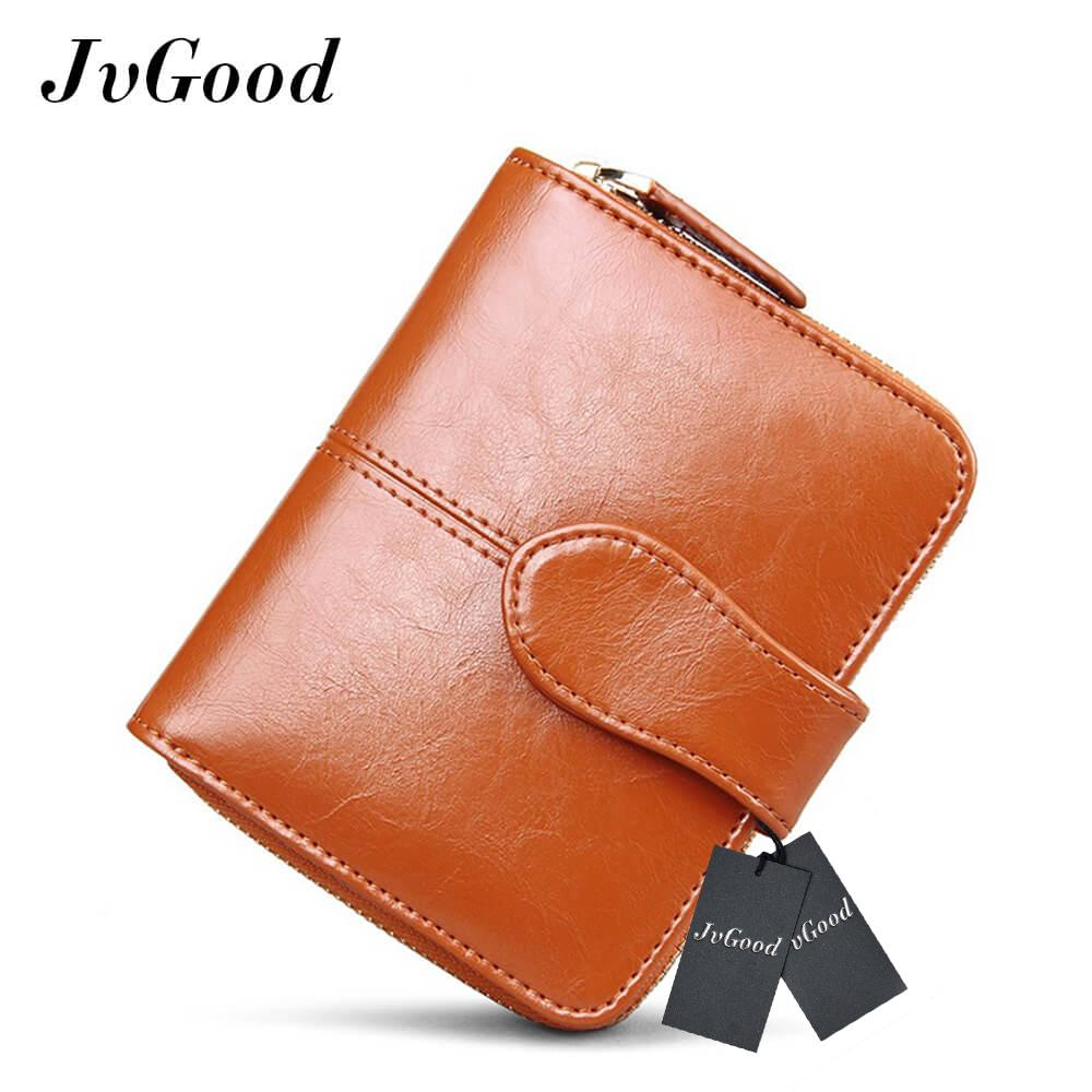 9c3f81da863 JvGood Women Mini Soft Leather Bifold Clutch Wallet With ID Window Card  Sleeve Coin Purse