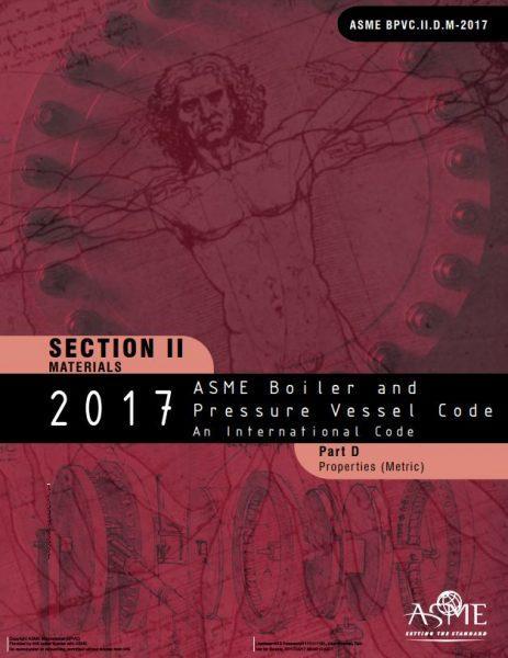 ASME BPVC Section II Part D.M - Properties (Metric) - ASME Boiler and Pressure Vessel Code Books