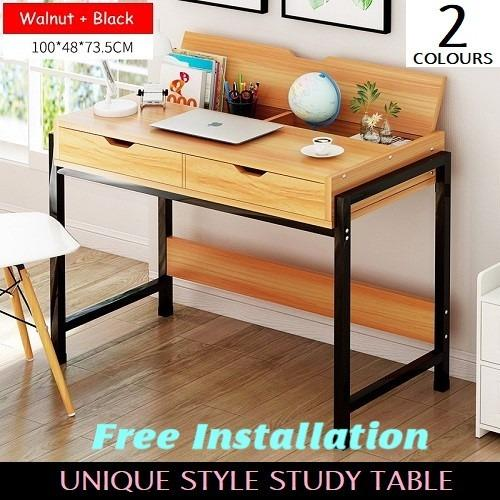 Multi Functional Study Office Desk Free Installation 100 48 73 5 Coupon
