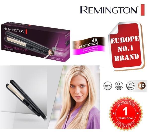 Buy REMINGTON S3500 Hair Straightener with Anti Static Ceramic Tourmaline Plates and Temperature 150-230c [UNIVERSAL VOLTAGE][1 YEAR LOCAL GUARANTEE] Singapore