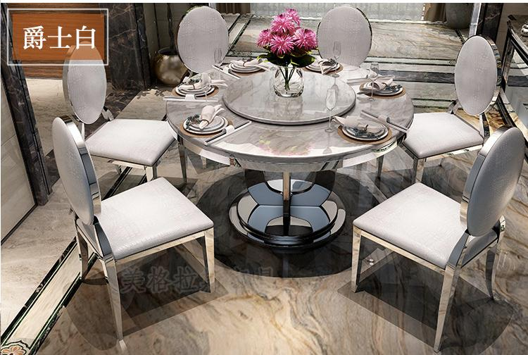 JIJI Grandeus Dual Round Marble Top Dining Table (No Chairs) (Free Installation) - Free 12 Months Local Seller Warranty (SG)