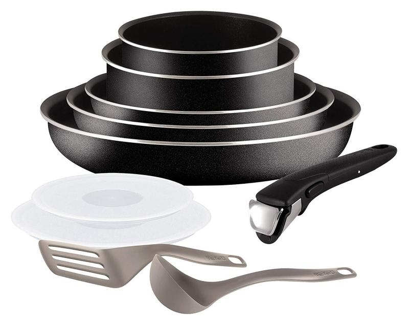 Tefal Ingenio 5 Essential Black Set 10 Pieces - All heat except induction (Preorder - Will arrive in 7-15 working days) Singapore