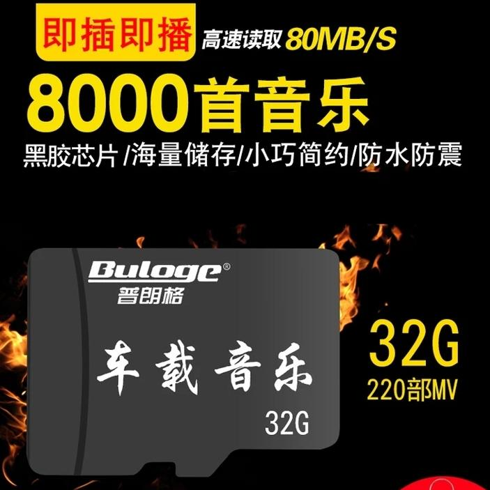 Micro SD Card 32G + Free 8000 MP3 songs + 300 Video MP4 / AVI + Free Limited Mini USB adaptor.